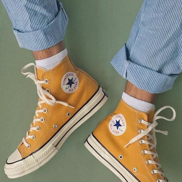 510c230d0fa40b Men s Converse Chuck 70 High Top Yellow Sneakers